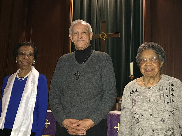 "L-r): Agnes Irene Taylor Ray, 96, The Rev. DrHoward W. Hinson, Lead Pastor of Metropolitan United Methodist Church, 83, and Margaret J. Lowry, 99. Metropolitan is located at 1121 W. Lanvale Street in Baltimore. This year, Metropolitan United Methodist Church celebrates its 195th Anniversary. The theme for the 195th Anniversary Celebration is: ""Celebrating The Past – Embracing The Present"