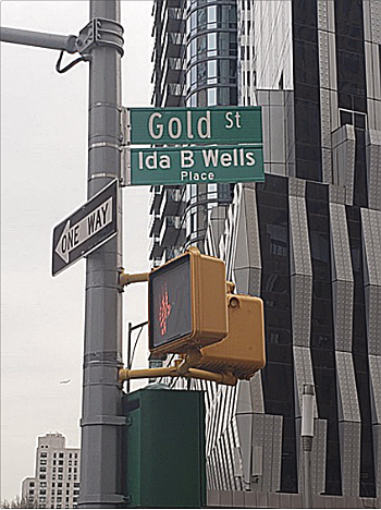 A new street sign in Downtown Brooklyn commemorates the life of Ida B. Wells, one of this nation's most revered ...