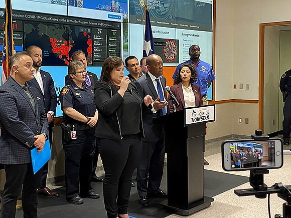 Mayor Sylvester Turner joined Harris County Judge Lina Hidalgo and local health officials Monday afternoon to announce new measures to ...