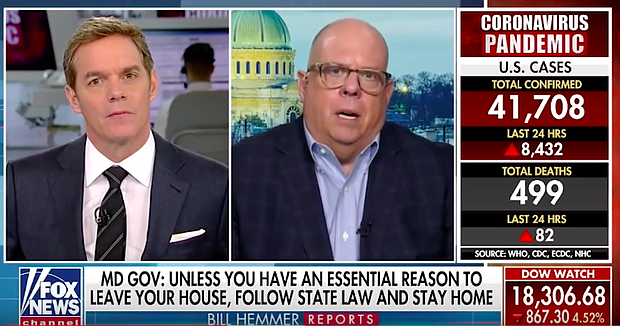 Watch: Governor Hogan Discusses Maryland's COVID-19 Response on FOX News, CNN, MPT