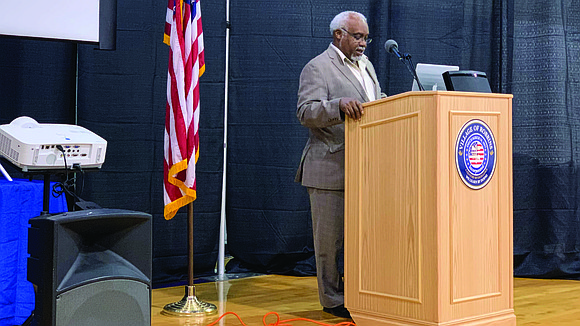 Tyrone Ward, mayor of Robbins, hosted a town hall meeting to provide information about the novel coronavirus as a way ...