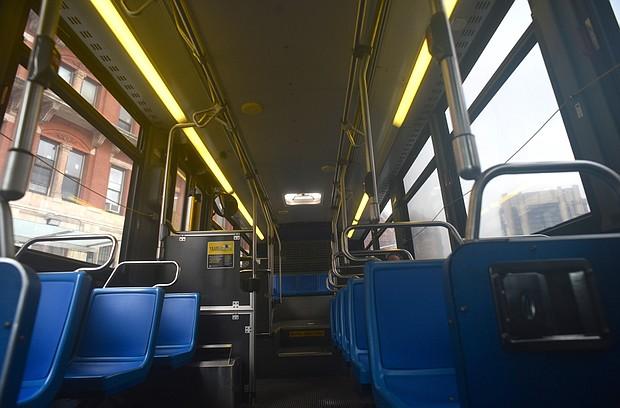 Empty MTA bus