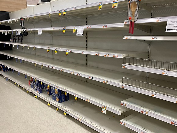Panic buying has been rife around the globe in wake of the coronavirus pandemic. Customers have been stockpiling goods like ...