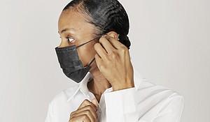 Woman wearing surgical mask, Coronavirus/COVID-19