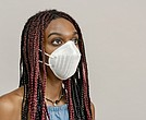 Woman wearing mask, Coronavirus/COVID-19