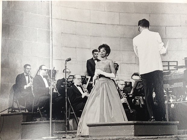 Junetta Jones, pictured here performing with the Goldman Band at Central Park in the summer of 1964 or 65, was a Baltimore native and accomplished opera singer. A graduate of Douglass High School and Morgan State University, in 1956 she was the first African American...