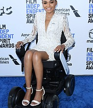 "Lauren ""Lolo"" Spencer,  2020 Spirit Awards nominee, in a Pronovias dress"