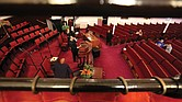 Dr. Rodney D. Waller conducts the 11 a.m. service Sunday in a largely empty sanctuary at First African Baptist Church in North Side. Following the guidelines, only 10 people were allowed to attend, with other congregants able to watch a live stream at their homes.
