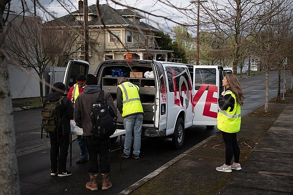 With the emergence of the coronovirus health threat, Union Gospel Mission is using its mobile outreach Search + Rescue van to educate the homelesss about the virus and its spread and checking to make sure people get medical care if needed. Many people seem to be aware of the virus, but their main concerns are still getting enough food and staying safe day to day, according to Union Gospel Mission officials.