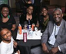 NNPA Senior Correspondent Stacy Brown, wife Shenay (third from left) and family.