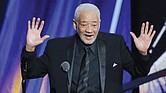 Bill Withers speaks at his induction into the Rock and Roll Hall of Fame in April 2015.