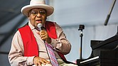 Ellis Marsalis perfoms on April 28, 2019, during the New Orleans Jazz & Heritage Festival.