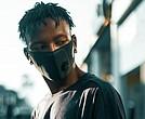 Man with mask/Coronavirus/COVID-19