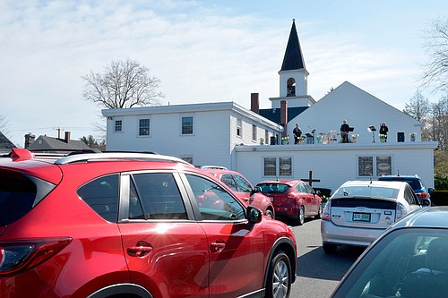 In South Carolina, a drive-in movie theater played the role of a church's pulpit and pews on Easter Sunday.