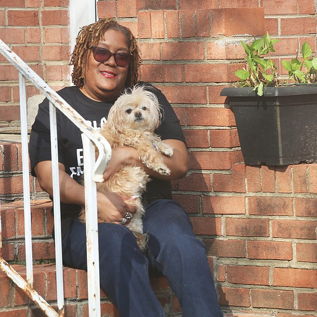 """Antoinette Rogers is staying put at her North Side home with her 161⁄2-year-old Maltese mix dog, Toby. She takes him out for walks and fresh air. The adjunct education professor at the University of Richmond teaches one weekly online class now from the comfort of home. """"I know I thrive in a face-to-face setting,"""" she said, while admitting that online teaching """"takes a little more effort."""" The pandemic, she said, has brought a pause to most everyone's life. The silver lining? """"I think God gave us some time to step back, assess some things and take stock of our lives."""""""