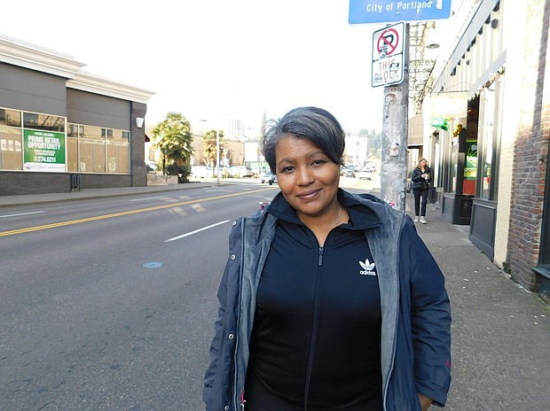 "Teressa Raiford, founder of Don't Shoot Portland, is in a crowded field in the race for mayor of Portland. She says she got involved as an activist candidate to bring change to Portland government, ""We're criminalizing poverty, we're criminalizing brown people, we're criminalizing mentally ill and disabled people and not doing anything about it,"" she said."