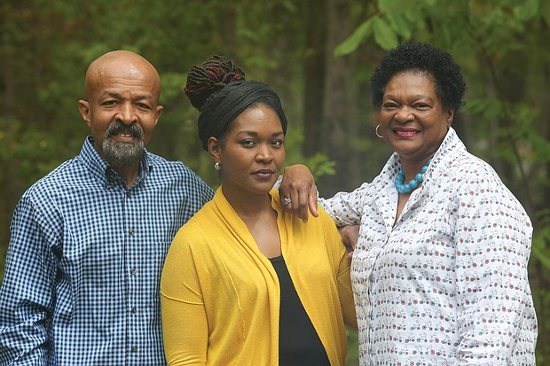 The McQuinn family is on the mend after Delegate Delores McQuinn, right, and her husband, Jonathan McQuinn, 63, and their daughter, Daytriel McQuinn-Nzassi, 37, were stricken with the coronavirus. They were in quarantine at the McQuinn family home in Varina. Ms. McQuinn-Nzassi's husband and young daughters, who also were in the house, didn't contract the virus