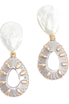 Bella Earrings, Light Gray - $66: