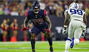 Houston Texans offensive lineman Laremy Tunsil_photo by  Wesley Hitt-Getty Images