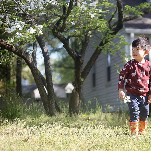 "Sarah Choi gets to spend more time with her son, Maximino Guertler Choi, at their Lakeside home in Henrico County without the interruption of day care. The 46-year-old marketing consultant sees that as her silver lining during this time. Her son, she said, is 21⁄2 and exploding with new words and expressions each day. ""It's amazing to be the first person to witness his progress,"" she said."