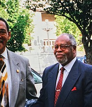 The late entrepreneur Harlow Fullwood and Dr. E. Lee Lassiter in an undated photo.