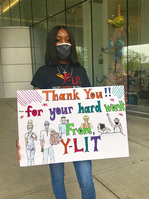Carmen Harris, 17, organized the event.