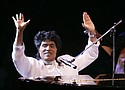 "Little Richard performs in 2004 at the Westbury Music Fair in Westbury, N.Y. The self-proclaimed ""architect of rock 'n' roll"" whose piercing wail, pounding piano and towering pompadour irrevocably altered popular music while introducing black R&B to white America,  died Saturday, May 9, 2020. (AP photo)"