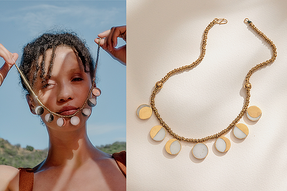 For summer '20, the Pamela Love jewelry brand teamed up with Kyleigh Kuhn to produce the company's signature Moon Phase ...