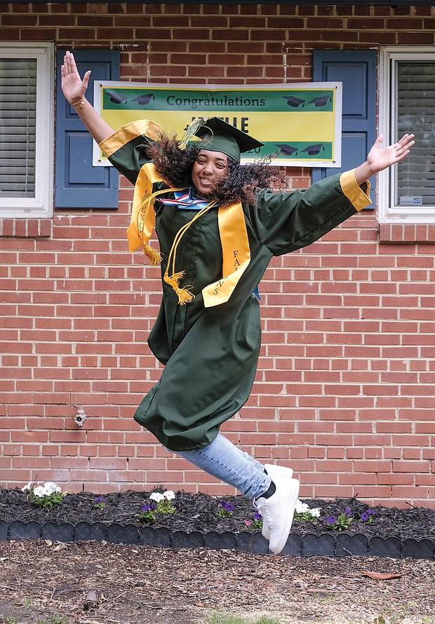 "JANELLE SAMPLE, Huguenot High School, 4.58 GPA. Attending Claflin University in Orangeburg, S.C., in the fall, where she wants to major in business administration. Daughter of Tonya Sample and Alfredo Sample. She credits her parents with getting her this far. How is her life different during the pandemic? ""I'm learning new skills that will help me start my own business in the future,"" she said. As for the silver lining, ""I'm spending more time with my family. I am also focusing more on my future."""