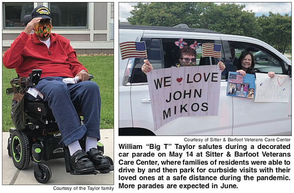 "Retired Sgt. 1st Class William ""Big T"" Taylor had not seen his family since early March."