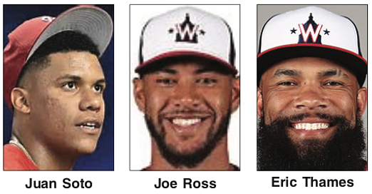 If the Washington Nationals are to repeat as World Series champion, the team will need help in replacing the power ...