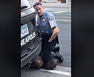 Former officer Derek Chauvin places his knee on George Floyd's neck