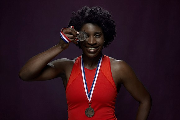 History-making skeleton athlete Simidele Adeagbo is currently sheltering in place at her mother's home in North Carolina.