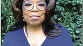 Oprah Winfrey is shown in a screen shot from her recent virtual 2020 commencement address to college graduates.