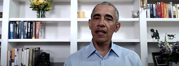 During a virtual town hall meeting, former U.S. President Barack Obama joins local and national leaders in the police reform ...