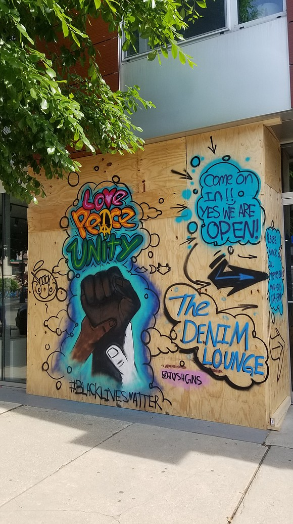 """""""Paint the City"""" is our way of helping our city heal,"""" said Keithley, a self-taught artists who grew up on ..."""