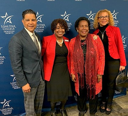 """Houston Style Magazine Publisher Francis Page, Jr., S.A.F.E. Diversities Founder Thelma """"MiMi"""" Scott, Congresswoman Sheila Jackson Lee, and Director of Diversity Strategies for Macy's Kristyn Page"""