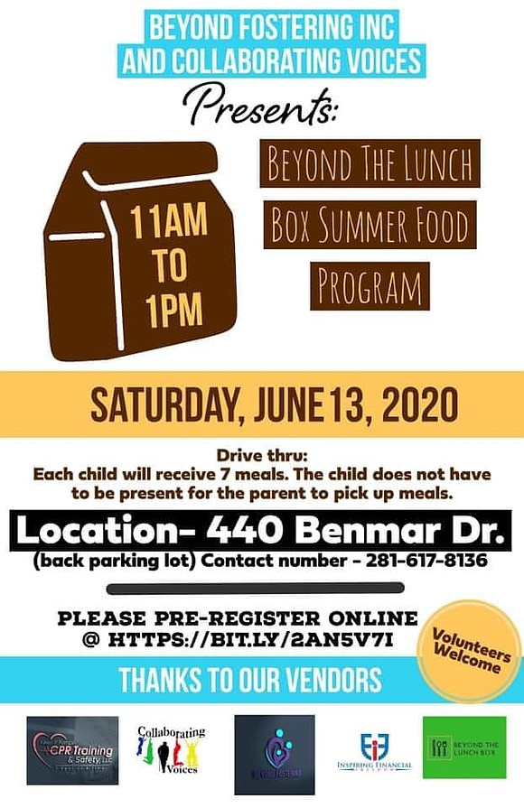 Beyond Fostering, Inc. of North Houston-Greenspoint kicked off their 2nd Anniversary Car Parade and Beyond The Lunch Box Summer Food ...