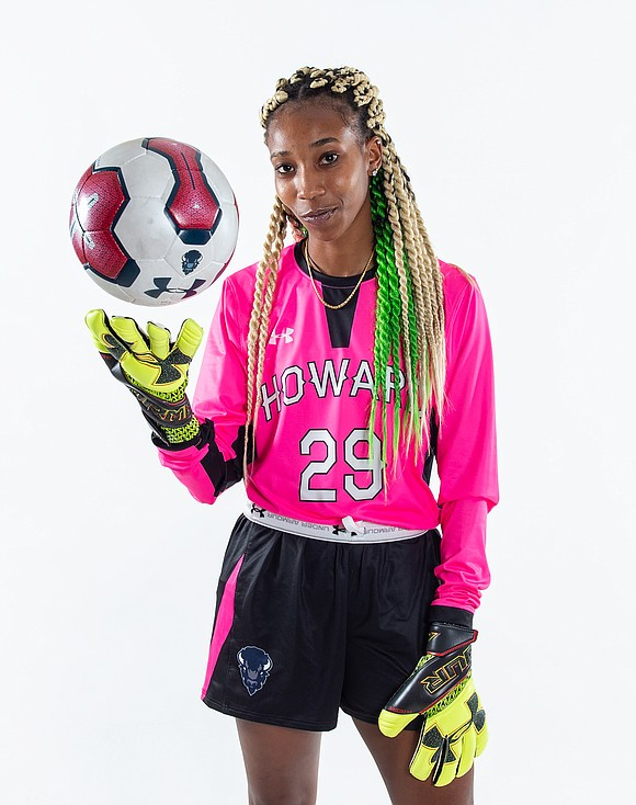 Soccer goalie Rochelle Blair, 22, wishes she was back home in New Jersey, but her parents, both semi-retired educators, and ...