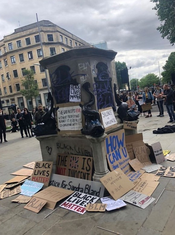 Years of inaction over the fate of an 18 foot statue of Edward Colston, a 17th century slave trader with ...