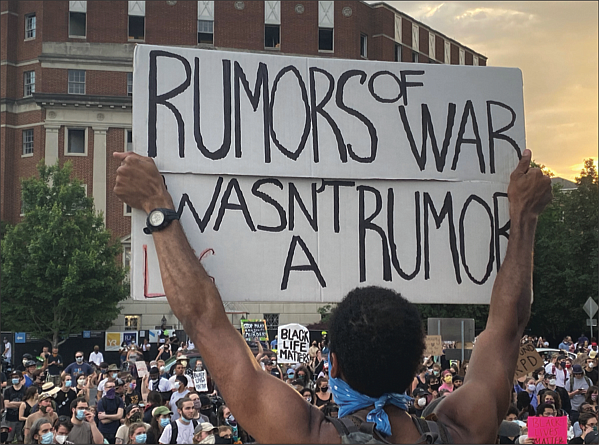 Thousands of protesters flood the area around the Lee statue on Monument Avenue on June 3, the day word spread that Gov. Ralph S. Northam was going to order the state-owned statue to be removed. The official announcement was made by the governor at a news conference the next day.