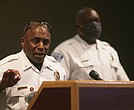 "Interim Chief William ""Jody"" Blackwell refuses to answer any questions about his fatal shooting of Jeramy O. Gilliam in 2002 during his introductory news conference last week at the Richmond Police Training Academy."