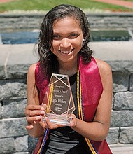 Cayla Withers who graduated from A.L. Brown High School in Kannapolis, N.C. was awarded Zeta Phi Beta Sorority, Incorporated's Triumphant Founder Arizona Cleaver Stemons Centennial Scholarship in the amount of $100,000 on June 19, 2020.