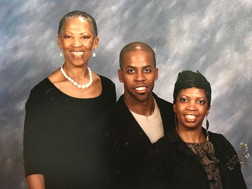 Dr. Shirley Basfield Dunlap with son Wesley Dunlap and daughter Stacie Dunlap