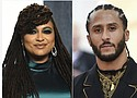 """Filmmaker Ava DuVernay (left) is working with Colin Kaepernick in a new Netflix miniseries about the teenage roots of the former NFL player's activism. Netflix says the limited series, titled """"Colin in Black & White,"""" will examine Kaepernick's high school years.  (AP photos)"""