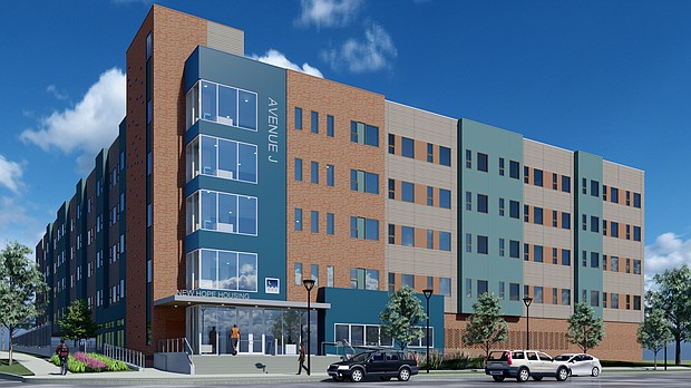 New Hope Housing Avenue J architectural rendering