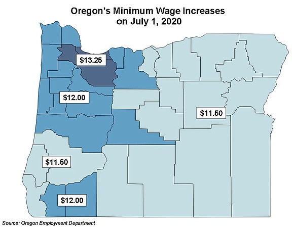 Minimum wage workers in Oregon will get a raise starting Wednesday, July 1.