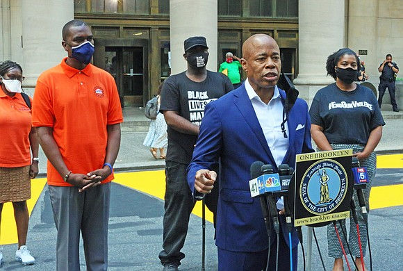 Brooklyn Borough President Eric Adams joined a family who has been directly impacted by exposure to lead paint in a ...