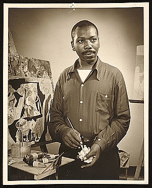 Jacob Lawrence was the first African American, as a stewards mate in the Coast Guard, to be appointed a Combat ...