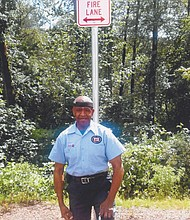 Bill Jackson is pictured in front of the new street named in his honor for the redevelopment of a PepsiCo distribution center inside a 5-block area north of Sandy Boulevard, between 25th and 27th Avenues that also includes new space for housing. Jackson has been an employee for the company since 1970